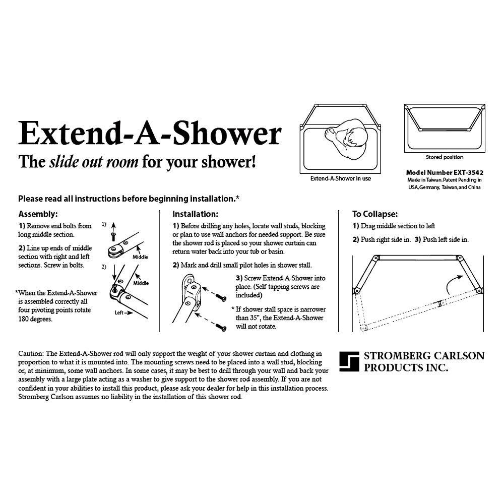 ... Carlson®   Bronze Extend A Shower Curtain Rod ...