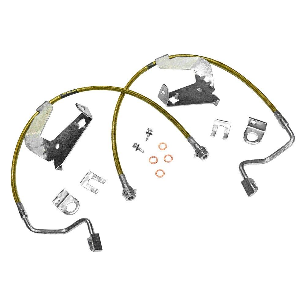 Kevlar Brake Lining : Superlift bullet proof kevlar front brake hose
