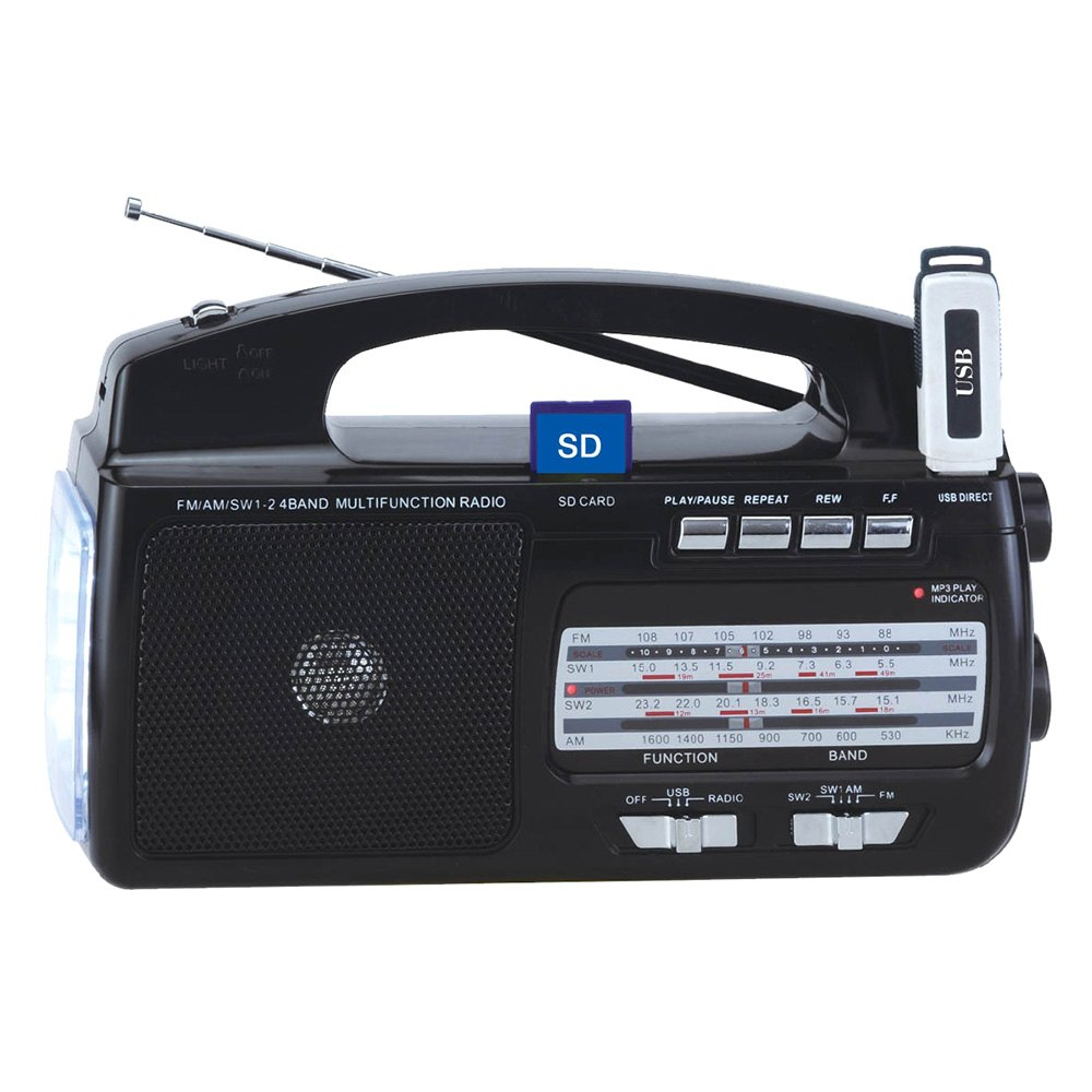 supersonic sc1081 4 band am fm sw1 2 portable radio. Black Bedroom Furniture Sets. Home Design Ideas