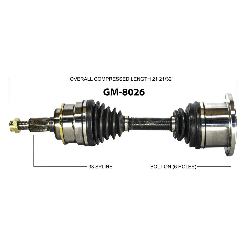 SurTrack® GM-8026 - Front Passenger Side CV Axle Shaft
