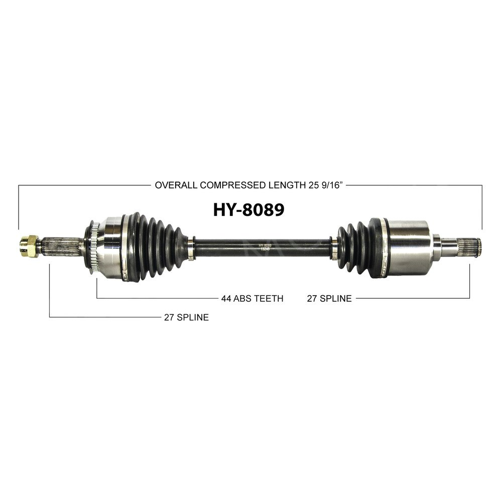surtrack® hy 8089 front driver side cv axle shaft surtrack® front driver side cv axle shaft