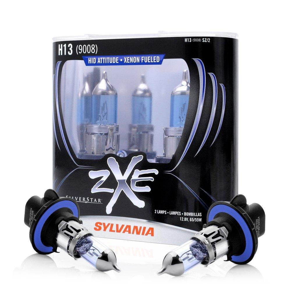 high and low beam silverstar zxe headlight replacement bulbs h13