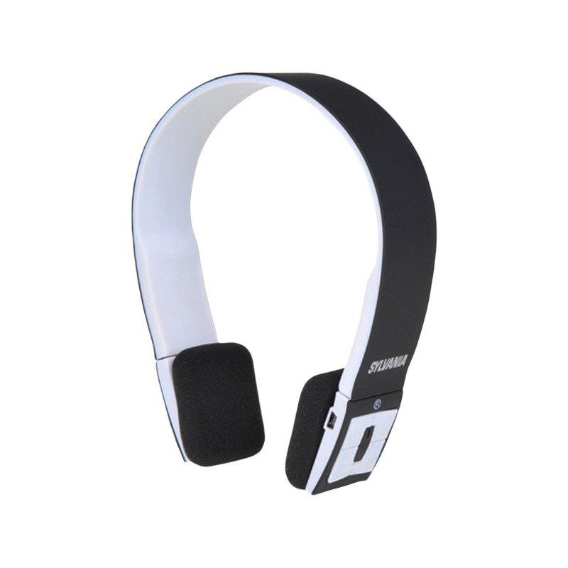 sylvania sbt214 black bluetooth headphones with. Black Bedroom Furniture Sets. Home Design Ideas