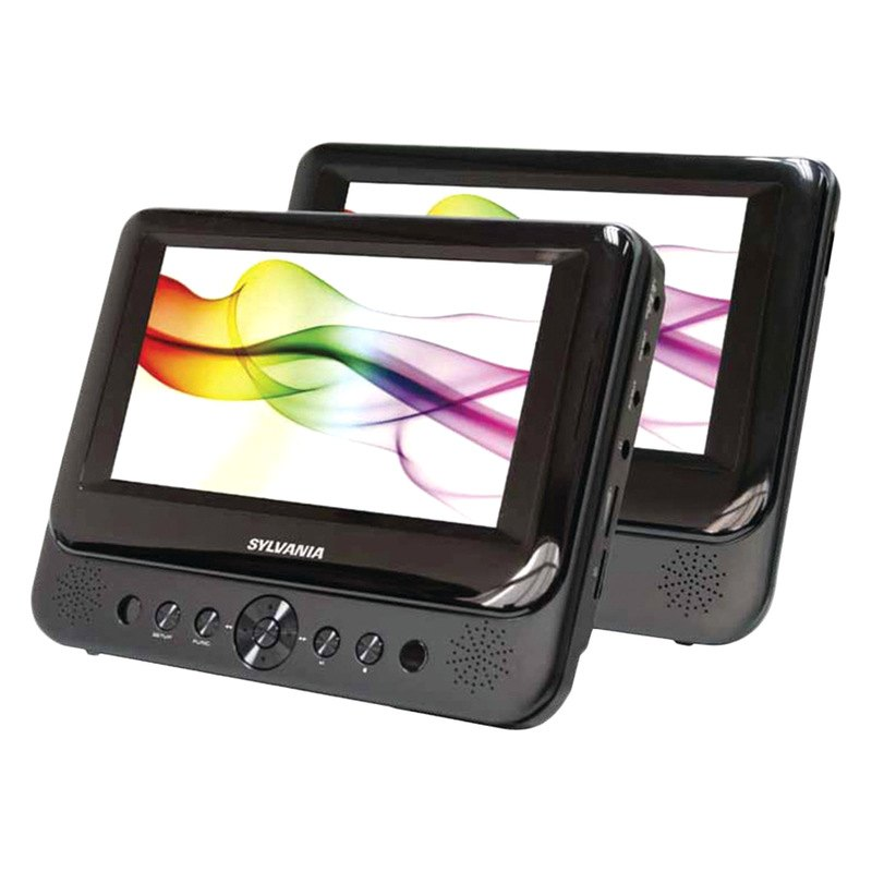 sylvania sdvd8739 7 dual screen portable dvd player. Black Bedroom Furniture Sets. Home Design Ideas