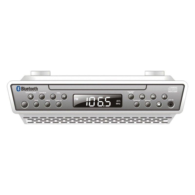 Kitchen Under Cabinet Radio Cd Player: Sylvania - Under-Counter Bluetooth CD Clock Radio