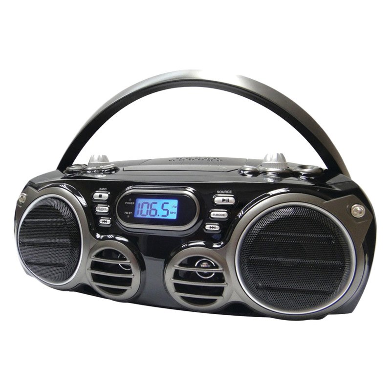 sylvania srcd682bt bluetooth portable cd radio boom box. Black Bedroom Furniture Sets. Home Design Ideas