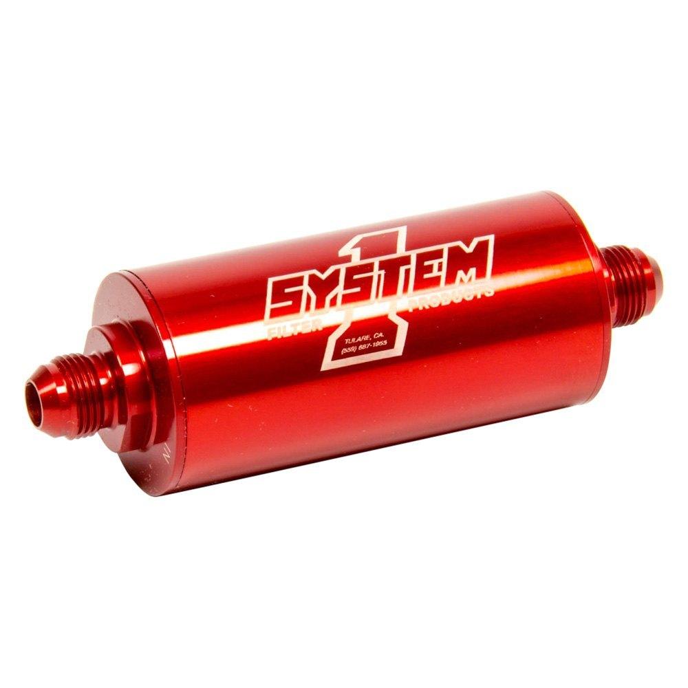 System 1 201 203408 Medium Billet In Line Fuel Filter Motorcycle
