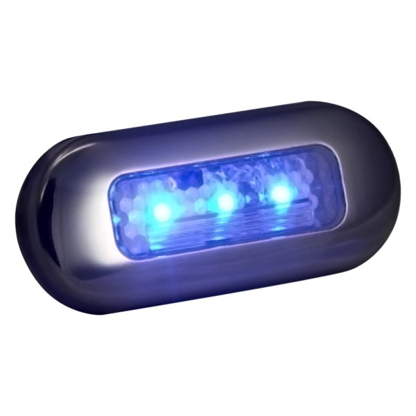T H Marine LED 51823 DP Blue LED Oblong Courtesy Light