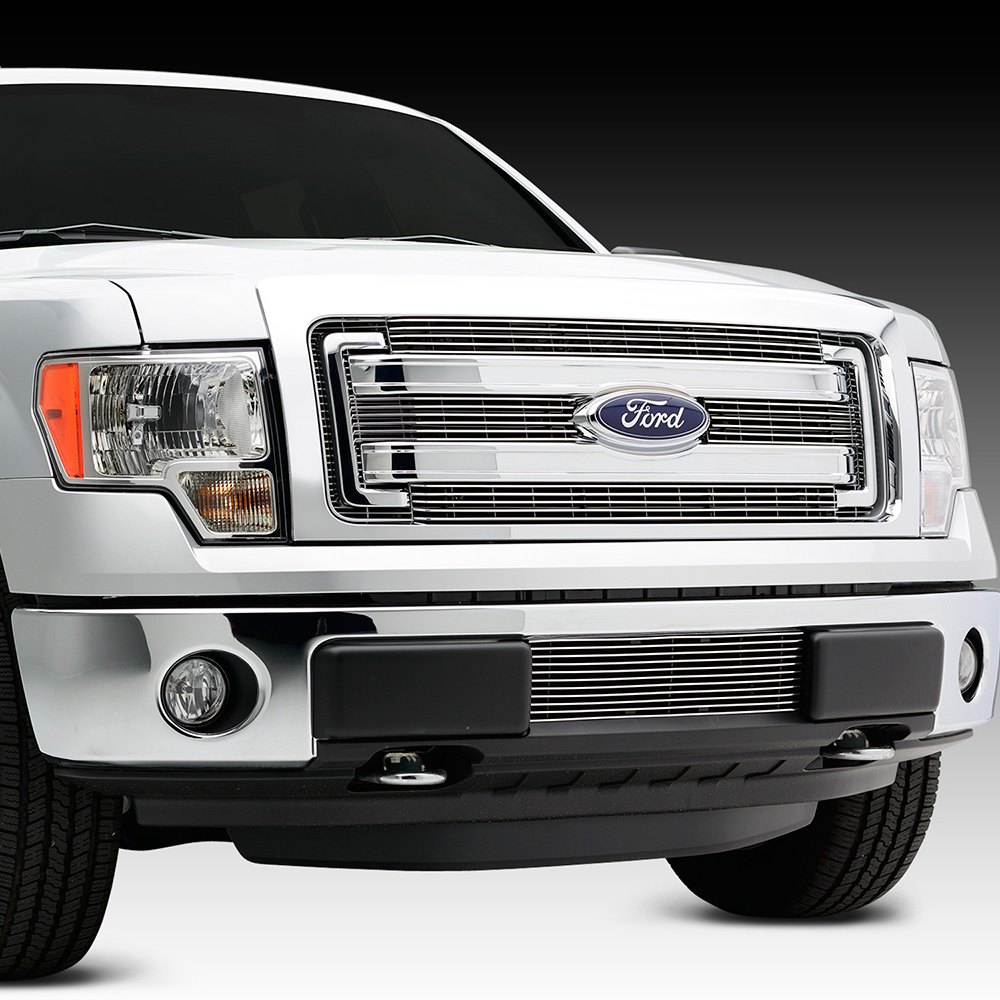 rex ford 150 billet grille horizontal grilles carid polished pc grill custom options