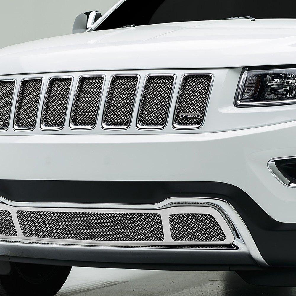 T Rex Jeep Grand Cherokee 2014 1 Pc Sport Series Chrome Mesh Grille