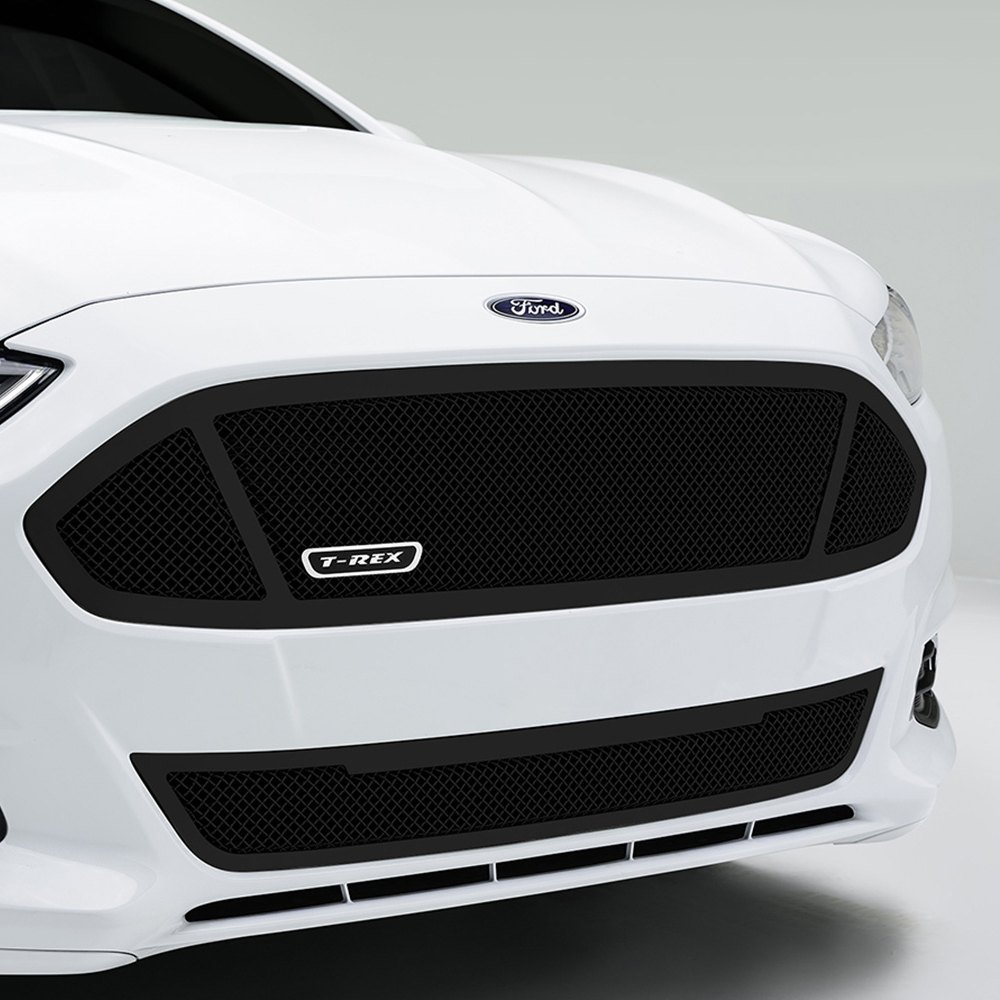 T rex ford fusion 2013 2016 1 pc upper class series black mesh grille