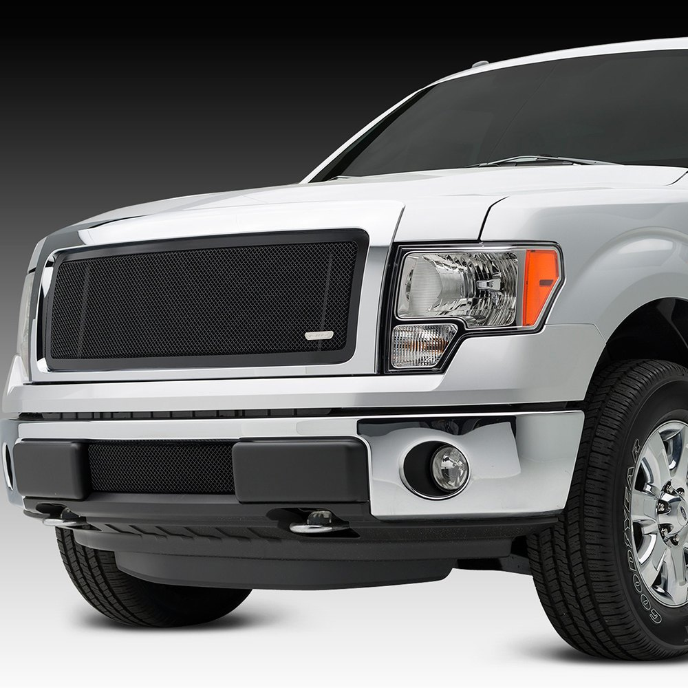 ford 150 rex grilles mesh grille custom upper class series grill front pc truck chrome billet led carid