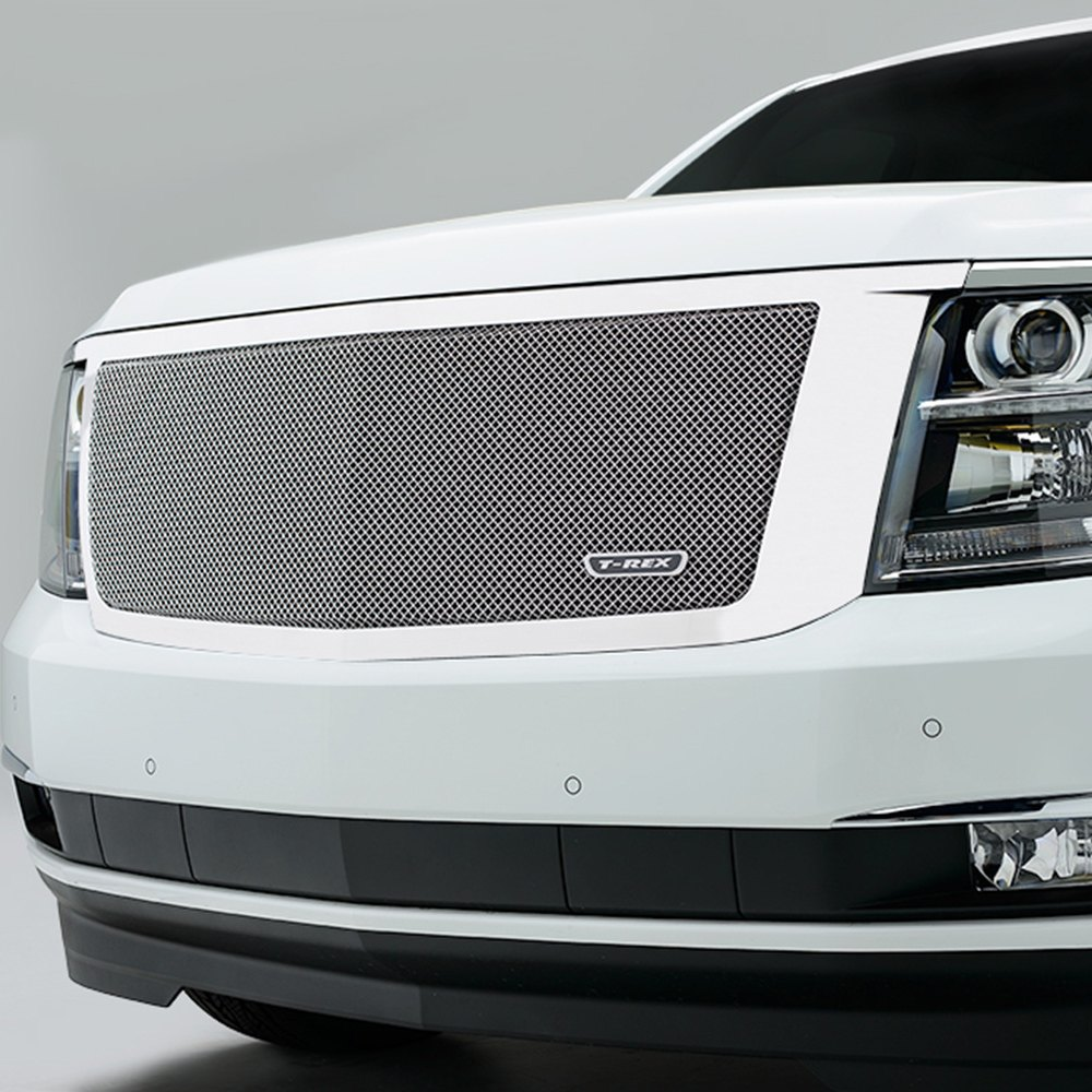 T rex chevy tahoe 2015 1 pc upper class series polished mesh grille - Grilles indiciaires fpt 2015 ...