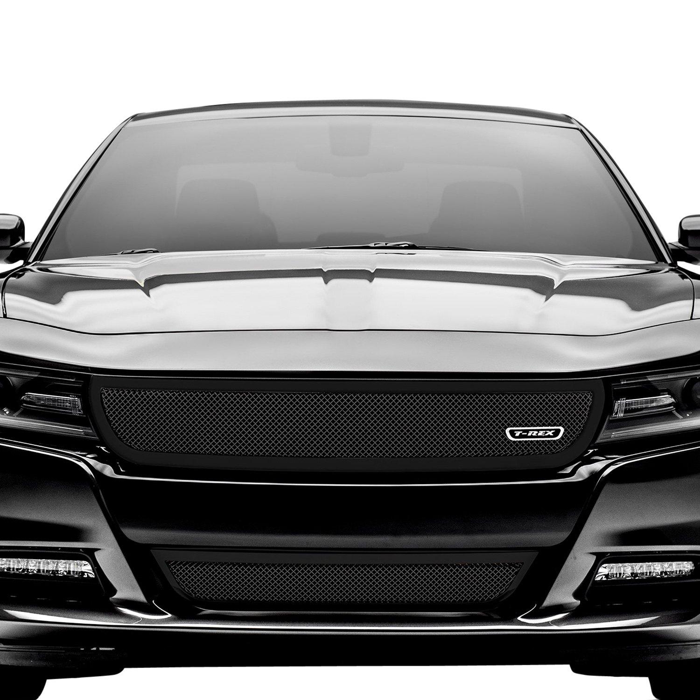 T Rex Dodge Charger Daytona R T Enforcer Gt Pursuit R T Sxt 2019 1 Pc Upper Class Series Black Formed Mesh Main Grille