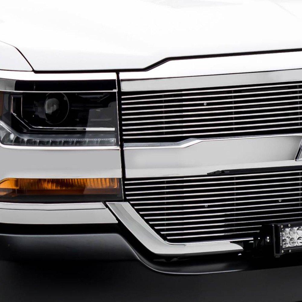 t rex chevy silverado 1500 2016 2017 polished horizontal laser billet grille. Black Bedroom Furniture Sets. Home Design Ideas