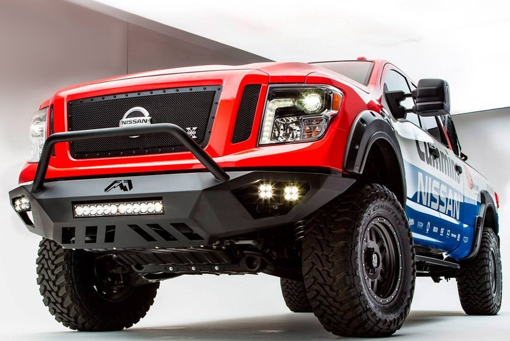 T rex nissan titan xd 2016 2018 3 pc stealth metal series black grillet rex 3 pc stealth metal series black powder coated mesh main voltagebd Images