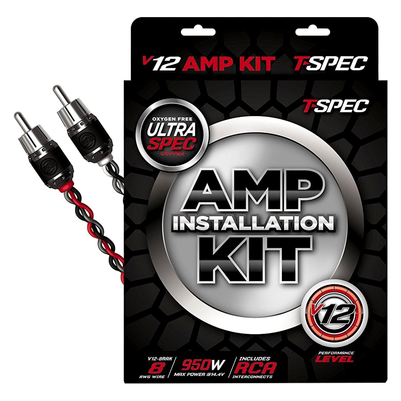 T-Spec® V12-8RAK - V12 Series 8 Gauge Amplifier Wiring Kit for 9500W ...