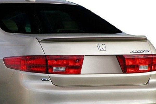 For Honda Accord 03-05 Pure Factory Style Fiberglass Rear Lip Spoiler Unpainted