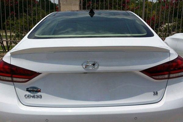For Genesis G80 17-19 T5i Custom Style Fiberglass Rear Lip Spoiler Unpainted