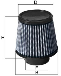 Takeda Pro DRY S Air Filter Dimensions