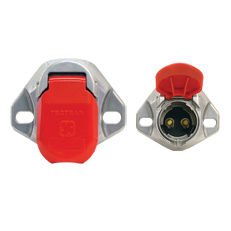 Tectran dual pole buffalo plug and bull nose sockets