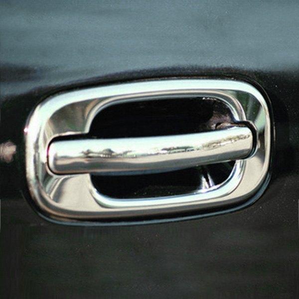 Tfp chevy silverado 2000 stainless steel door handle covers for 03 silverado door handle replacement