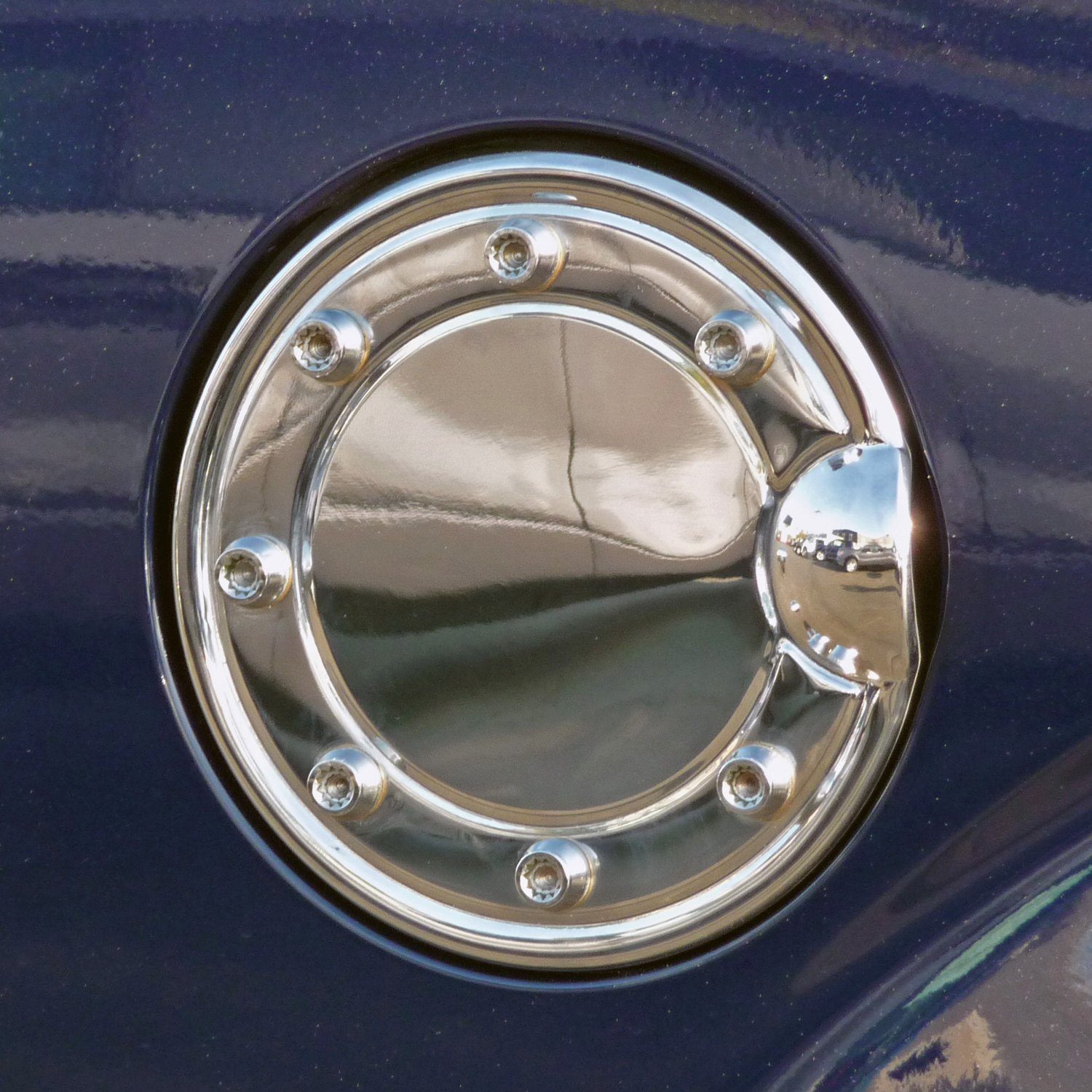 Tfp b chrome stainless steel gas cap cover