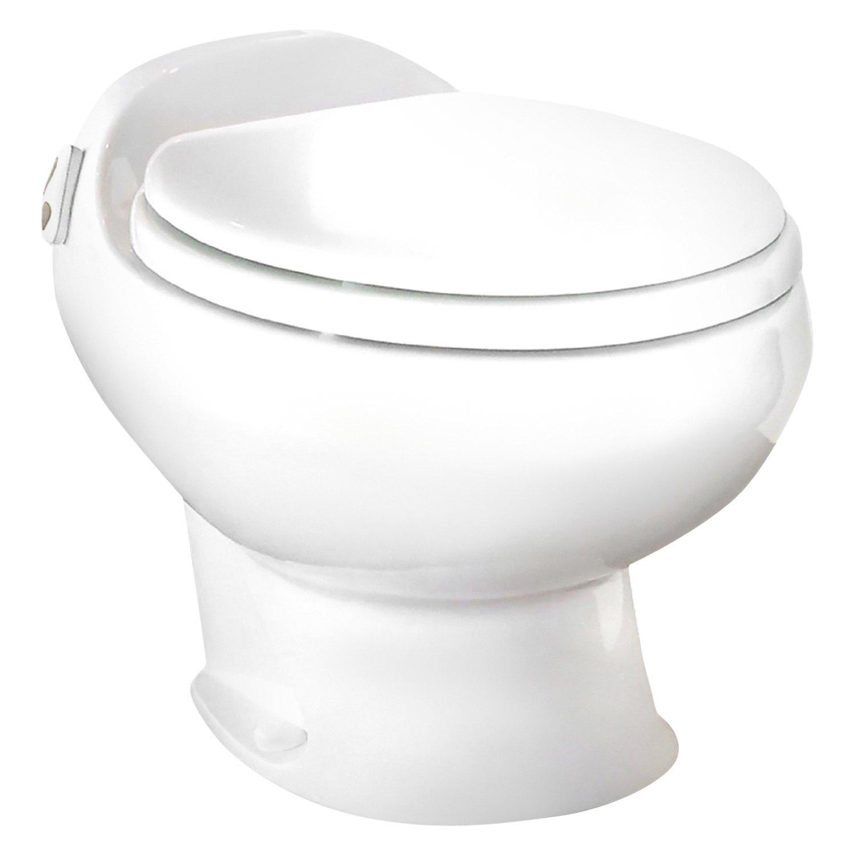 Thetford®  White Aria® Deluxe Ii Low Profile Toilet With Electric Push  Button Flush