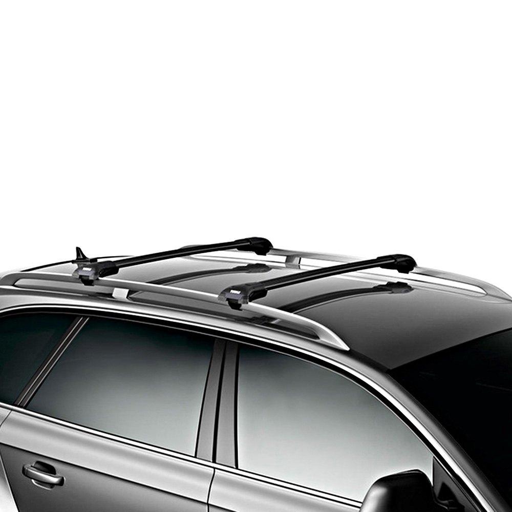 aeroblade edge raised rail roof rackthule