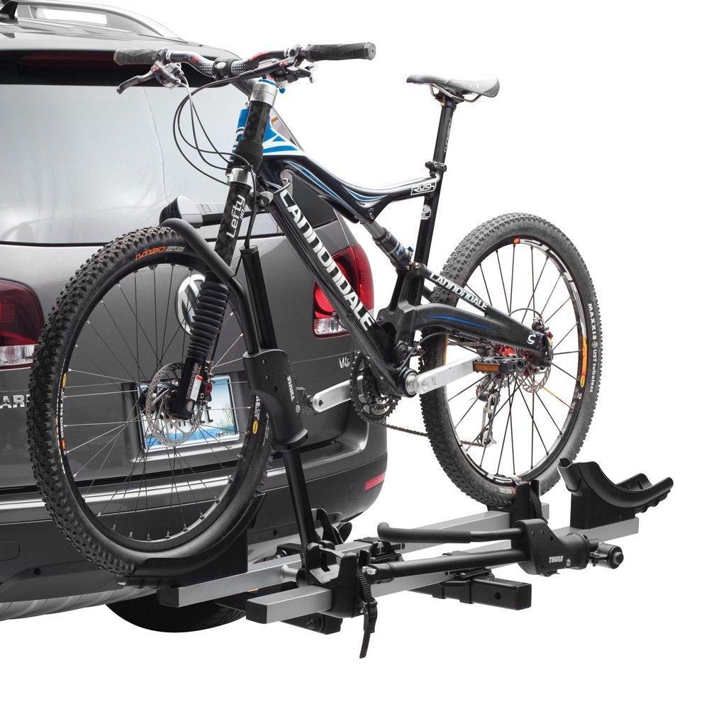 how to put a bike on a thule bike rack