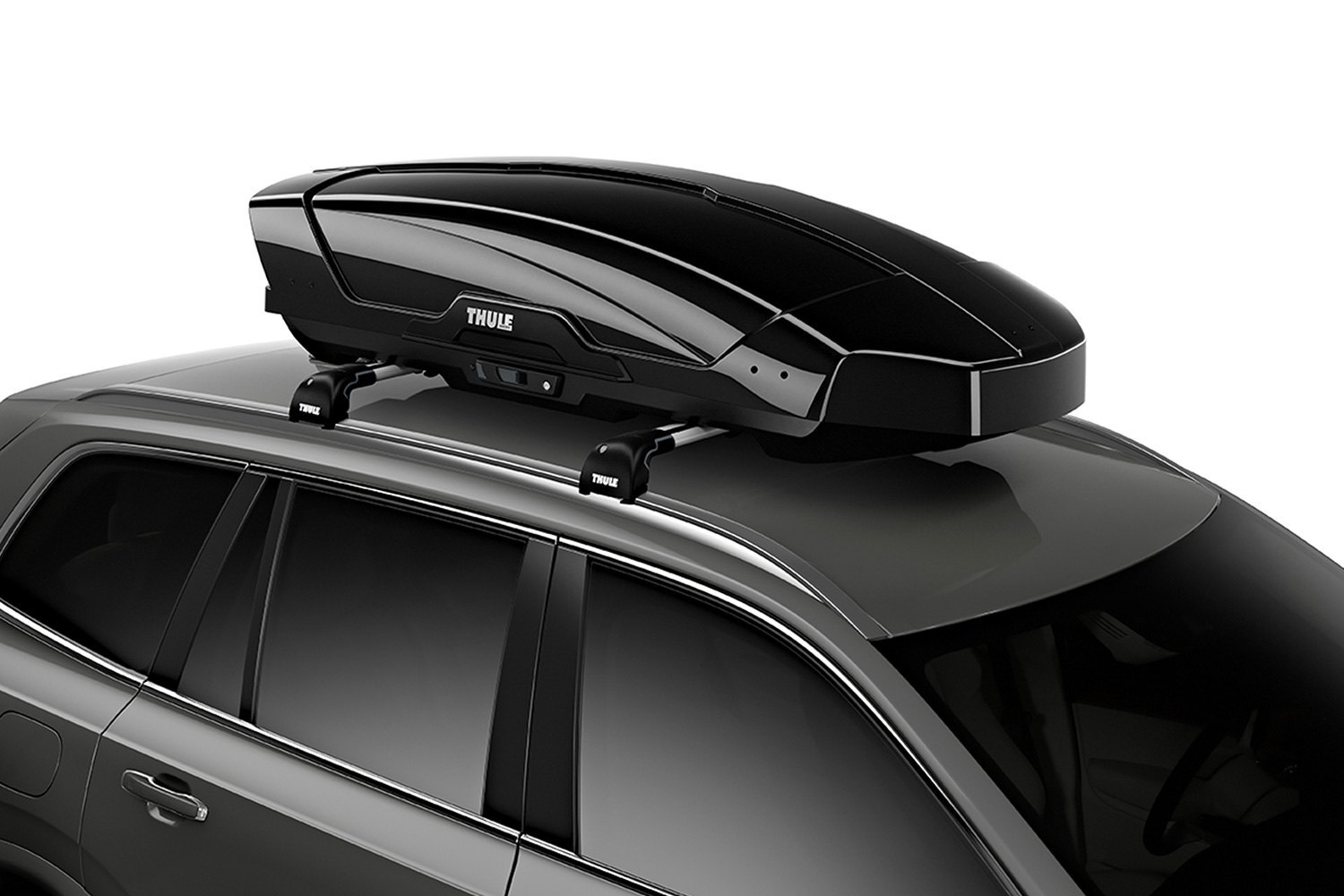 thule 6298b motion xt black glossy cargo box 84 5 l x 36 w x 17 h 18 cu ft. Black Bedroom Furniture Sets. Home Design Ideas
