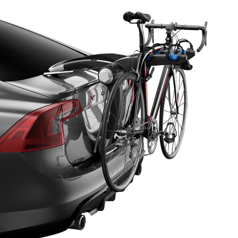 thule honda civic   raceway trunk mount bike rack