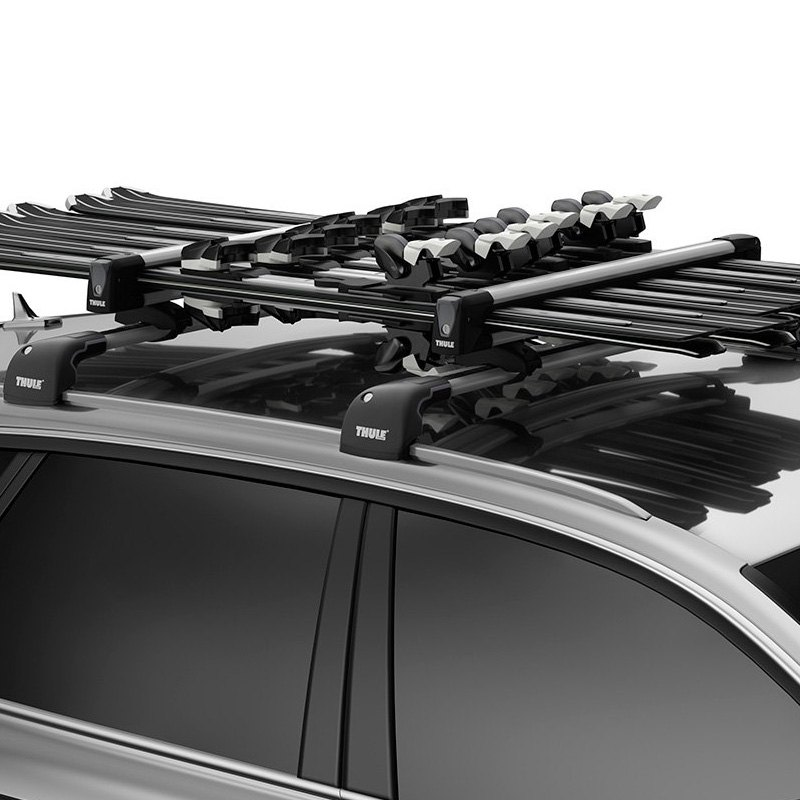 thule audi q5 2009 2017 snowpack ski and snowboard rack. Black Bedroom Furniture Sets. Home Design Ideas
