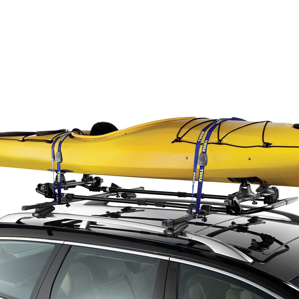 car for homemade dual thule rack roof kayak double