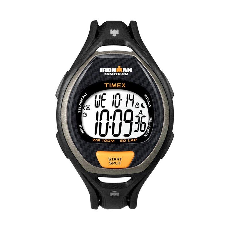 timex 174 t5k335 ironman 50 mens digital black orange