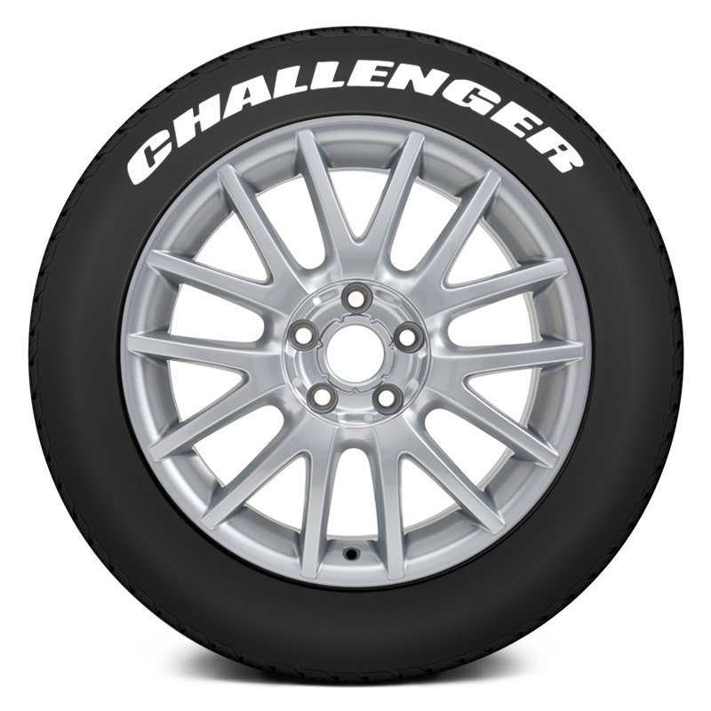 tire stickersr chall 1416 125 4 w quotchallengerquot tire With tire lettering kit