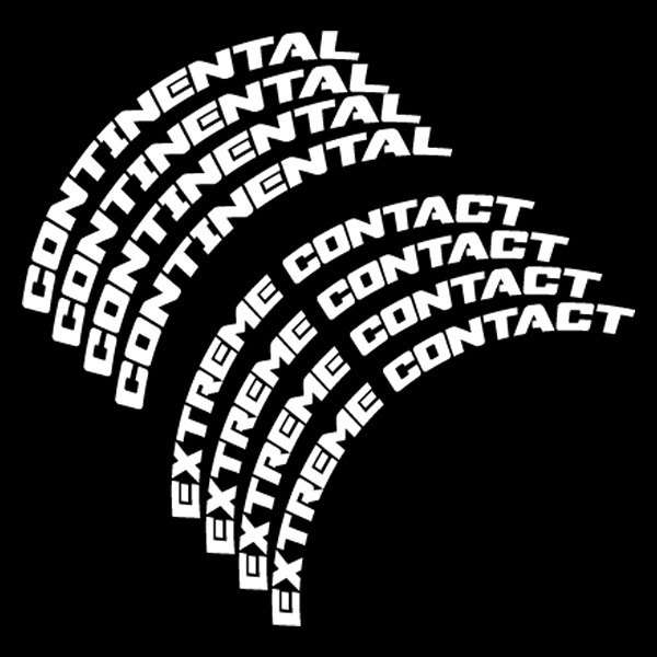 Tire stickers continental extreme contact tire lettering kit