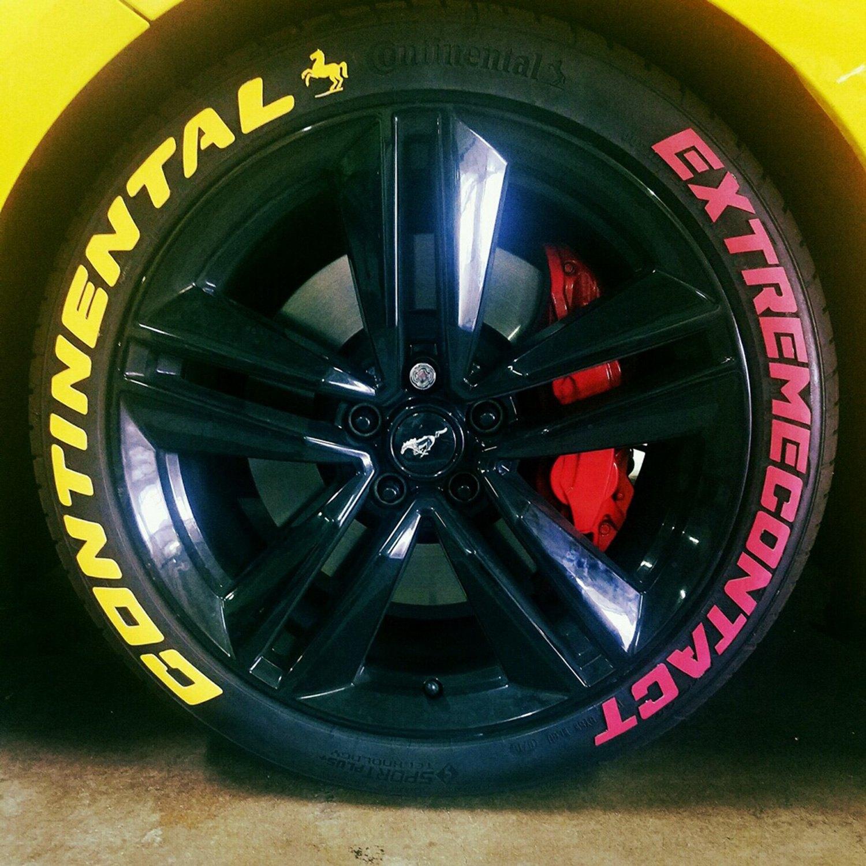 "Tire Stickers CON 1416 15 8 W ""Continental"" Tire Lettering Kit"