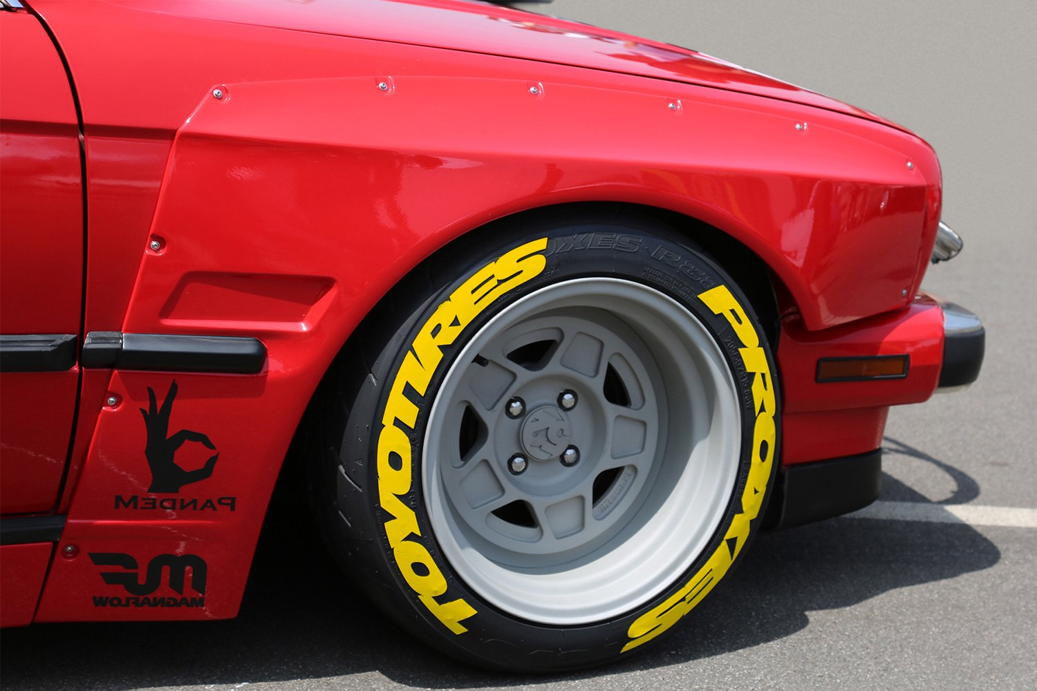 stickers toyo tires proxes super stretched design tire lettering