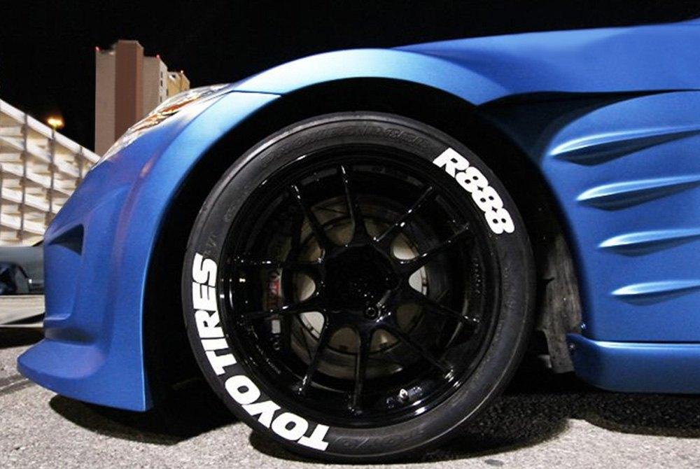 """Toyo Tires White Letters >> Tire Stickers® - """"Toyo Tires R888"""" Tire Lettering Kit"""