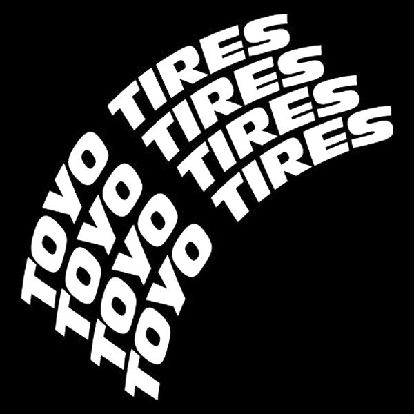 "Toyo Tires White Letters >> Tire Stickers® - ""Toyo Tires"" Tire Lettering Kit"