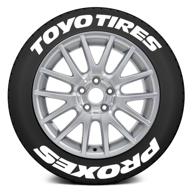 """Toyo Proxes R888 >> Tire Stickers TOYPRO-1718-1-4-W - """"Toyo Tires Proxes"""" Tire Lettering Kit 