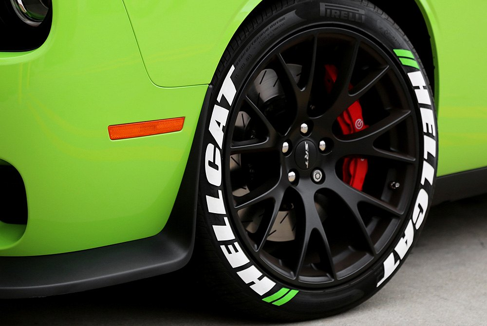 Tire stickers hellcat tire lettering