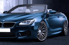 TIS® - 537MS Silver with Mirror Machined Face and Groove on BMW 6-Series