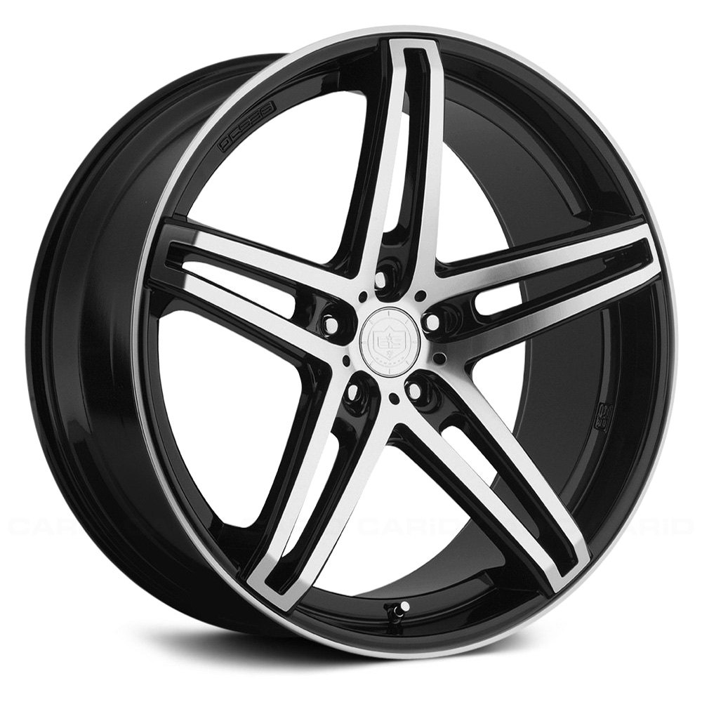 Tis 174 536mb Wheels Black With Machined Face And Groove Rims