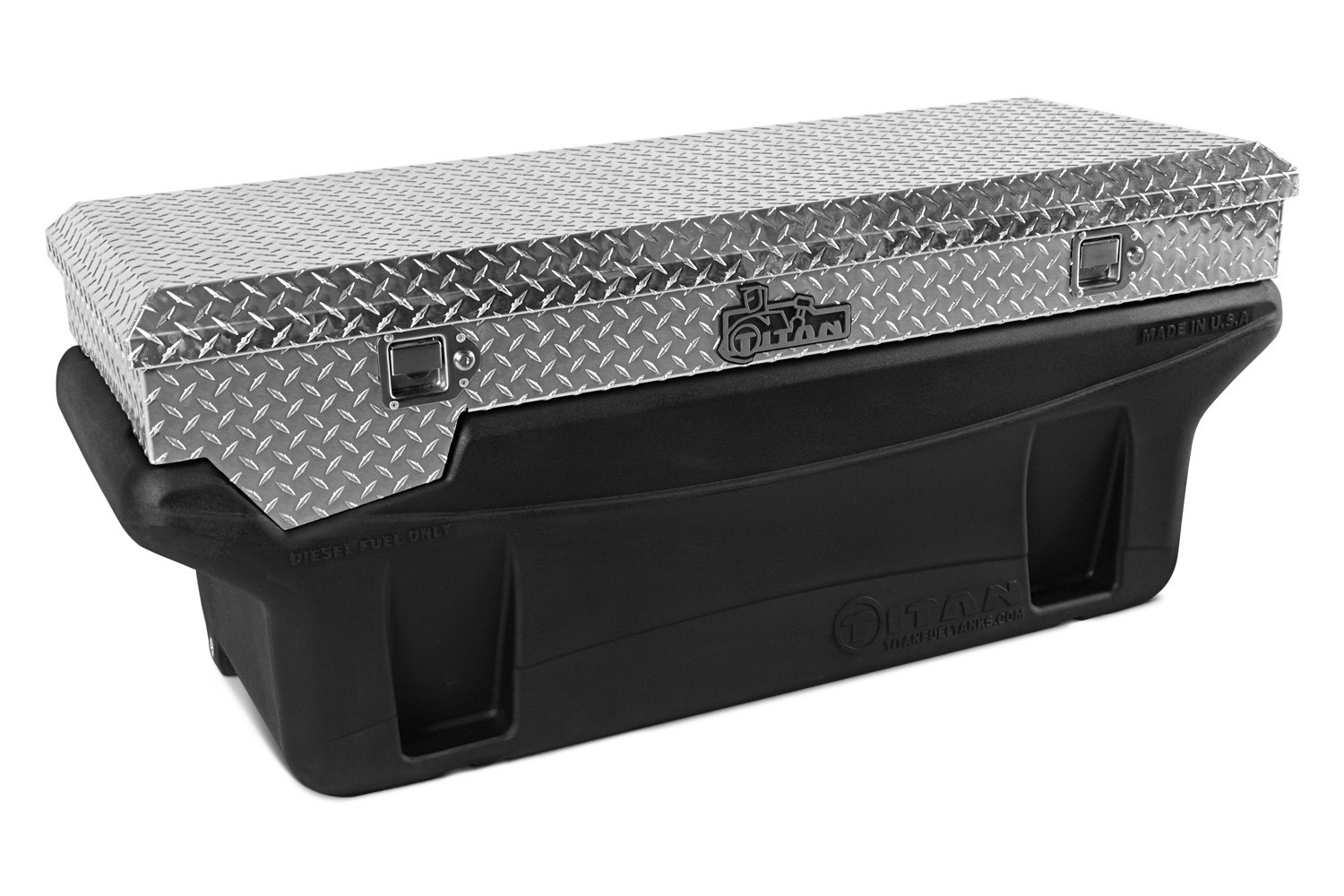 Titan in bed fuel tank with toolbox