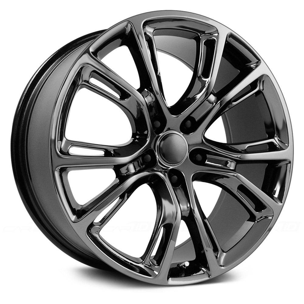 Jeep With Chrome Wheels >> TOPLINE REPLICAS® V1171 2012 JEEP SRT 8 Wheels - Pvd Dark Chrome Rims