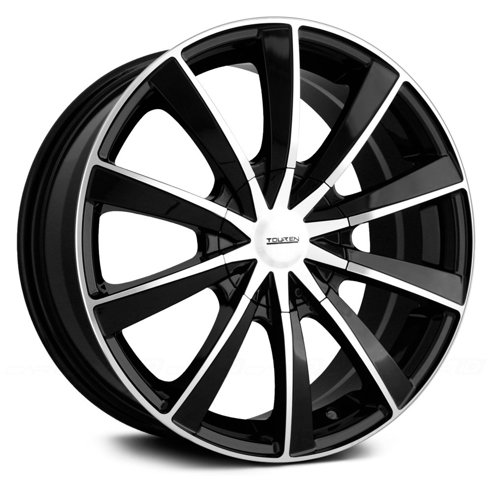Touren 174 Tr10 Wheels Black With Machined Face And Lip Rims