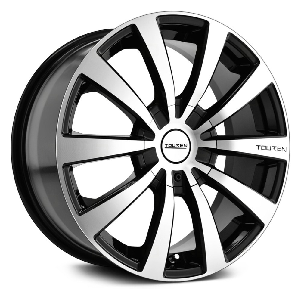 TOUREN® TR3 Wheels - Black with Machined Face and Lip Rims