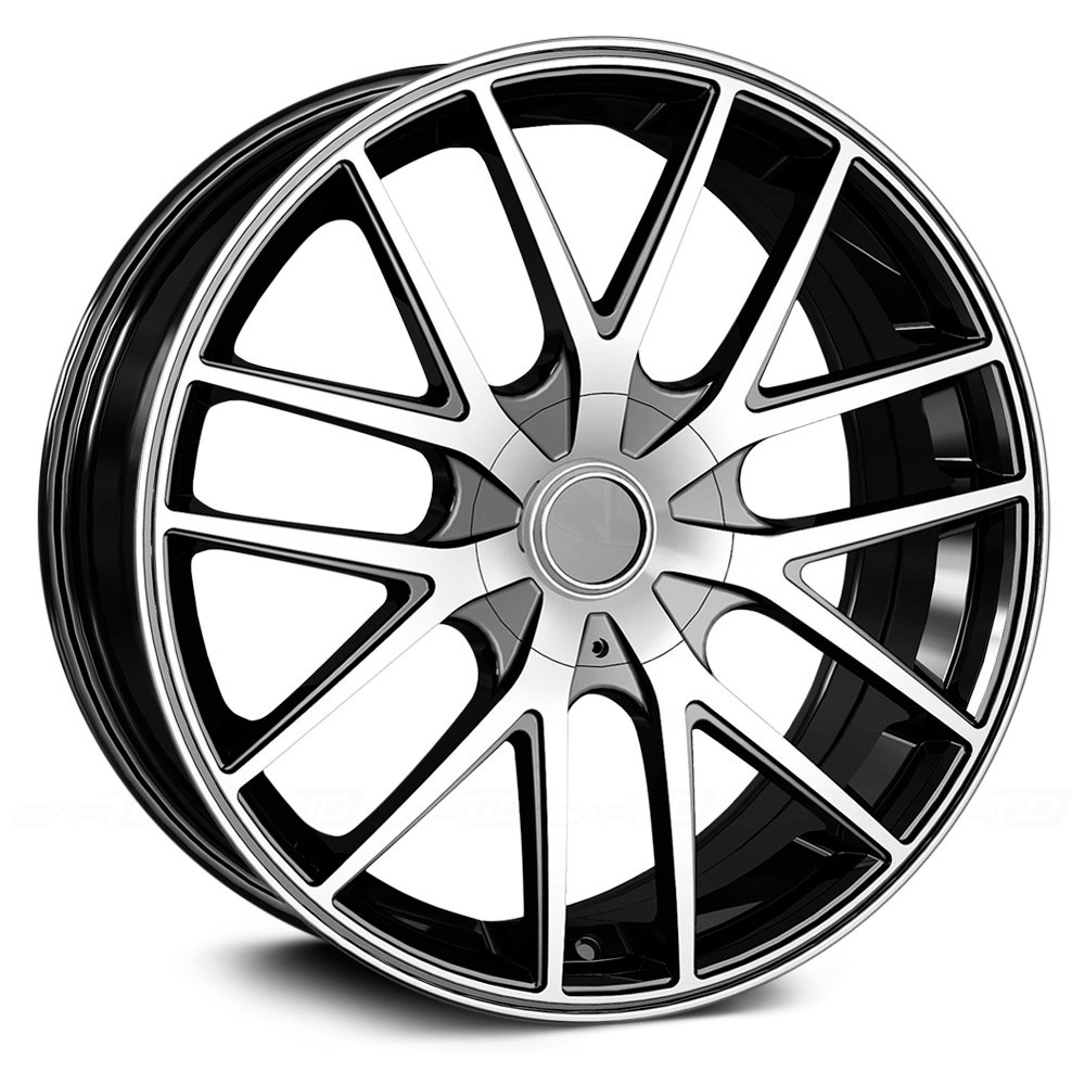 touren tr60 3260 wheels black with machined face black ring rims Yukon Denali touren tr60 3260 black with machined face black ring